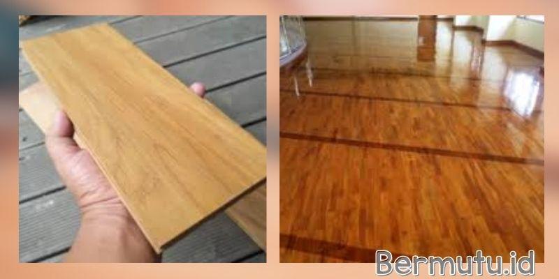 tipe lantai kayu indoor - solid jati