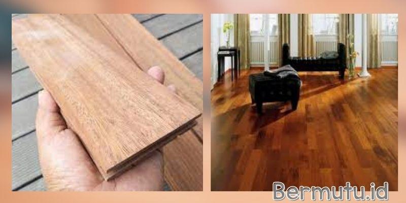 tipe lantai kayu indoor - solid merbau
