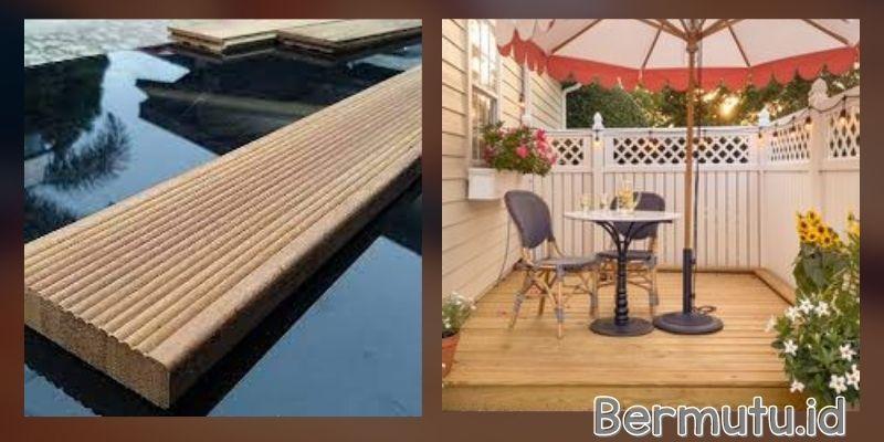 tipe lantai kayu outdoor - decking keruing