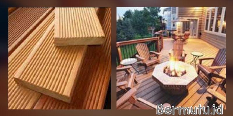 tipe lantai kayu outdoor - decking ulin