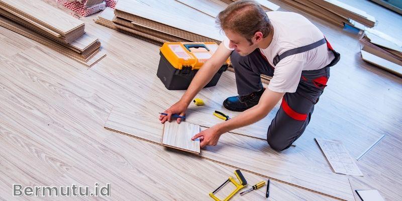 kelebihan lantai SPC - proses pemasangan yang lebih mudah