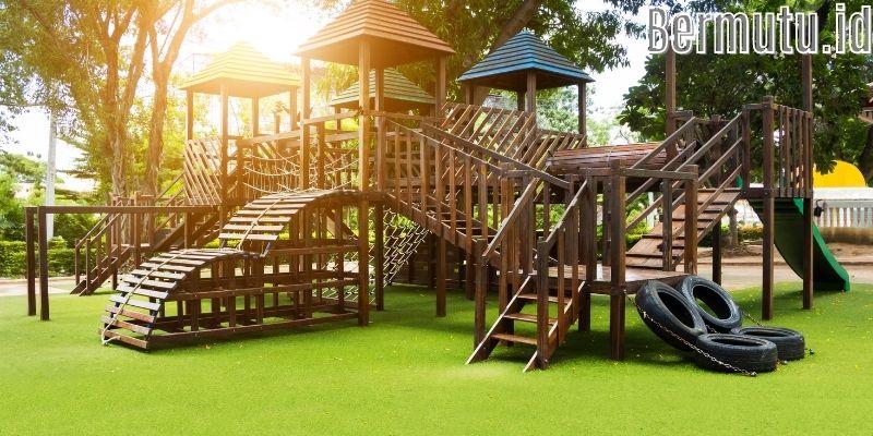 Inspirasi Dekorasi Desain Taman Bermain Anak - membuat rumah kayu