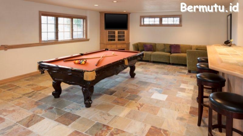 Tips Mendekorasi Ruang Billiard - sediakan area duduk
