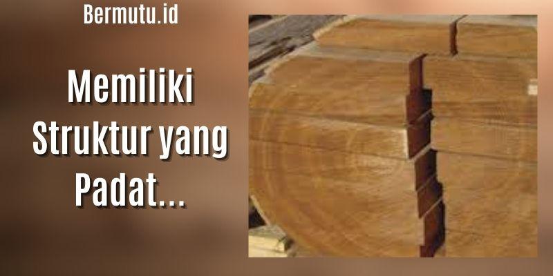 keunggulan kayu manglid - memiliki struktur padat