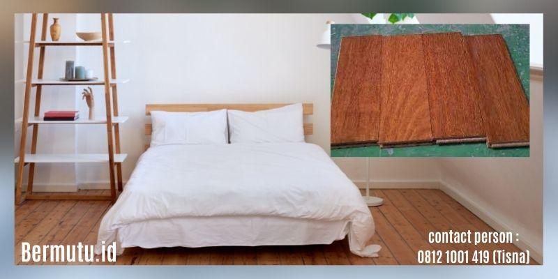 manfaat kayu kempas - lantai kayu parket