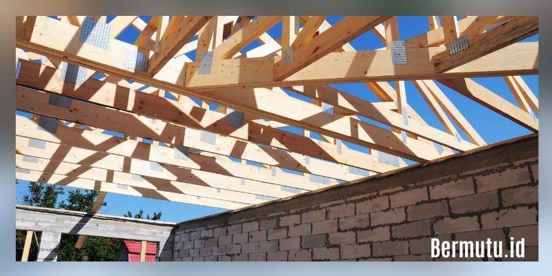 manfaat kayu kempas - rangka atap rumah