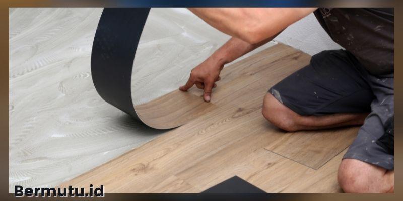 jenis-jenis lantai kayu tempel - lantai vinyl