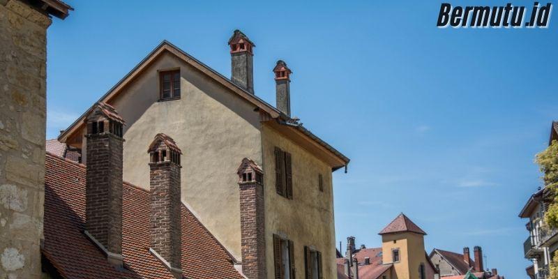 Dekorasi Rumah  Khas Eropa - desain rumah dengan cerobong asap