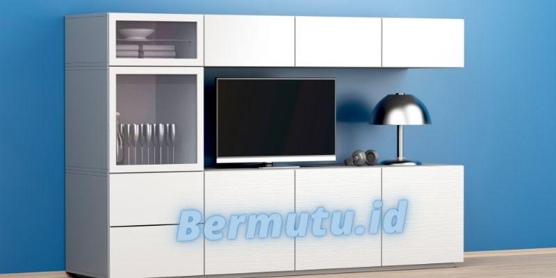 Jenis Furniture Terbaik Untuk Rumah Modern Minimalis - lemari tv denan storage ekstra