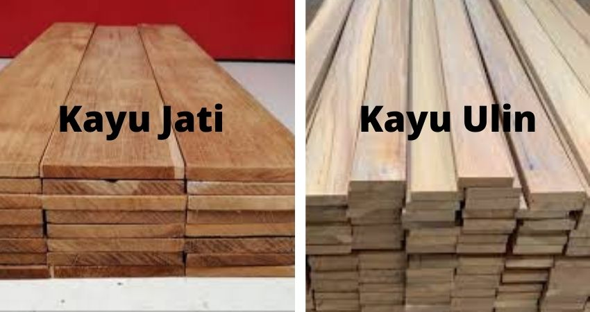 kayu jati vs kayu ulin