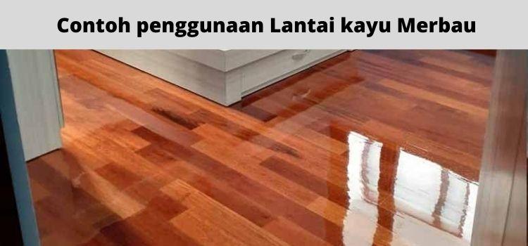 contoh penggunaan lantai kayu merbau