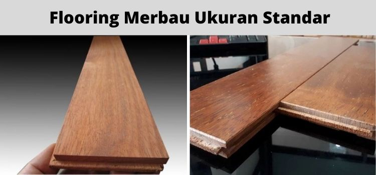 flooring merbau ukuran standar