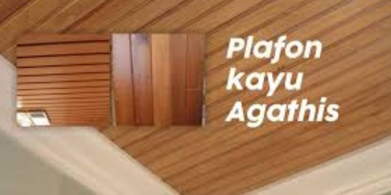 plafon kayu agathis