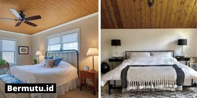 plafon kayu di kamar tidur