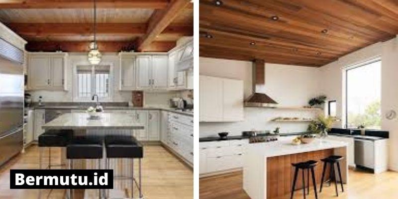 plafon kayu di dapur