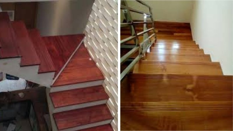 papan tangga kayu jati dan merbau