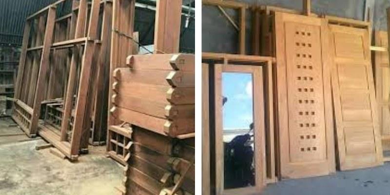 kusen & pintu kayu merbau