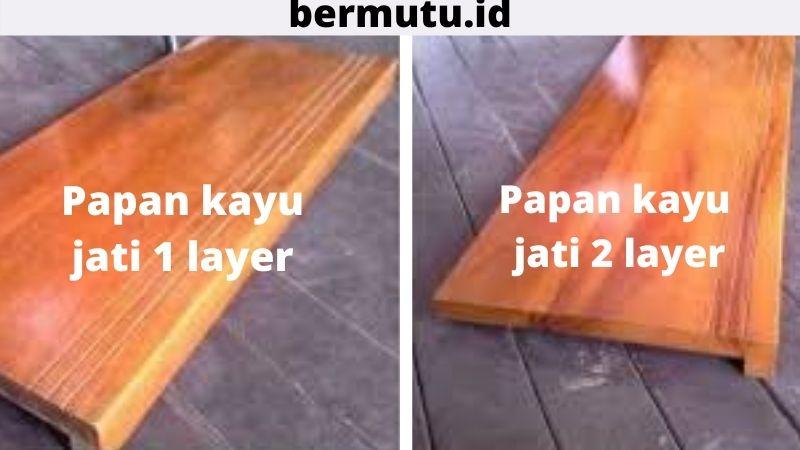 papan kayu jati 1 - 2 layer