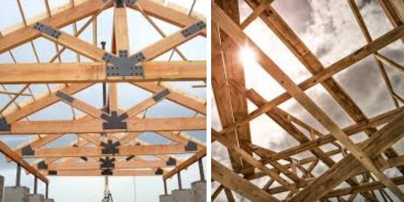 rangka atap kayu keruing