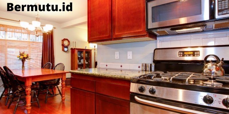 meggabungkan ruang keluarga dan dapur