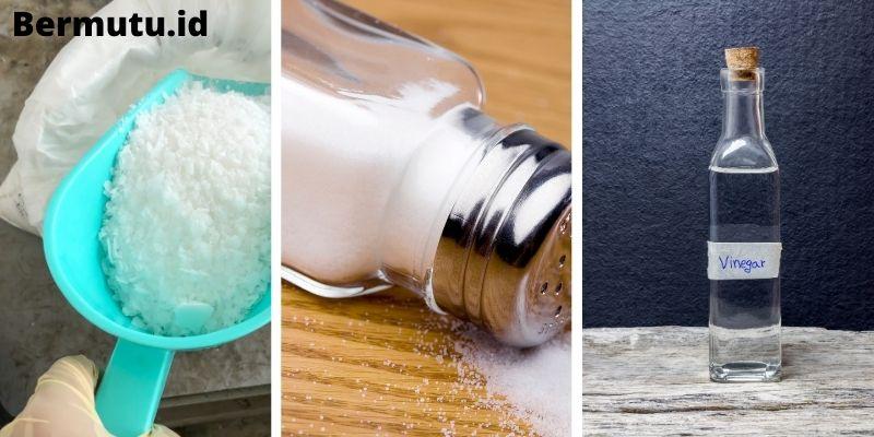 Gunakan Campuran Soda Api, Garam, dan Cuka