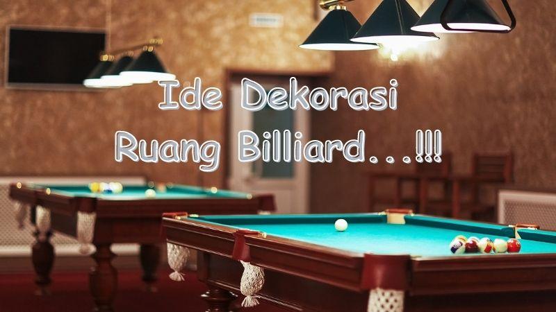 dekorasi ruang billiard