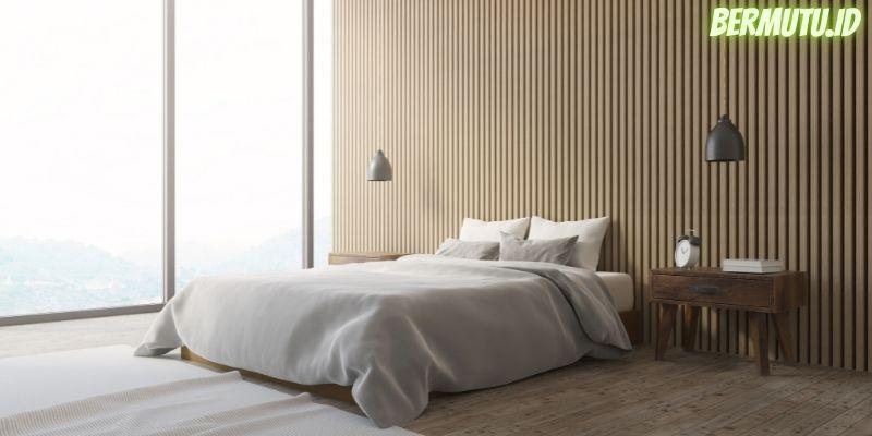 7 Desain Dinding Kayu Terpopuler - dinding kayu tipis pola vertikal