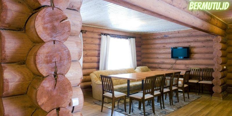 7 Desain Dinding Kayu Terpopuler - dinding kayu geometris